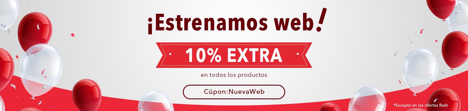¡Estrenamos web!10% EXTRA descuentos en toda la Web