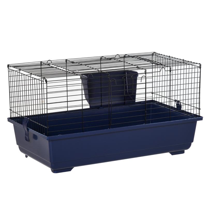 kooi voor kleine huisdieren dierenkooi knaagdierenkooi met alle accessoires staal + kunststof blauw