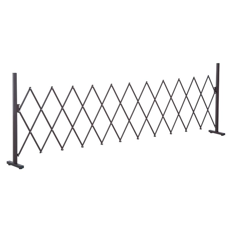 Uittrekbaar scharend hekwerk, 35 - 300 cm, afrastering, schaarhek, tuin, aluminium bruin