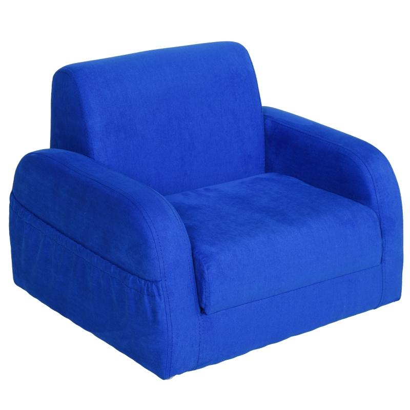 HOMCOM 2-in-1 kinderstoel mini-stoel Kinderbank voor 3-6 jaar 51 x 45 x 38 cm blauw