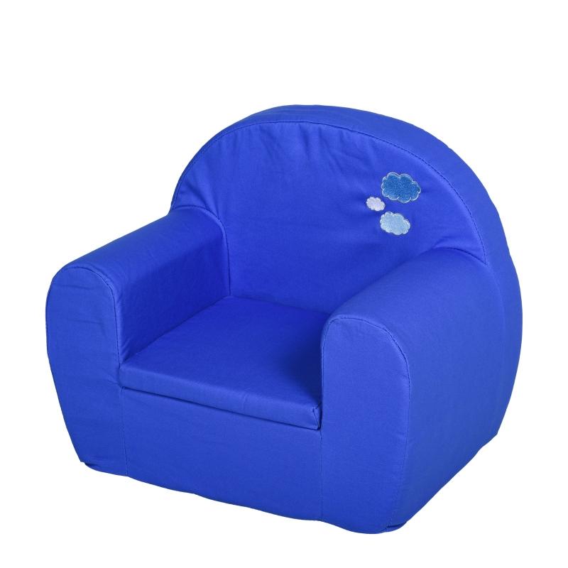 HOMCOM kinderstoel mini-stoel kinderbank voor leeftijd van 10-36 maanden blauw 53 x 35 x 44,5 cm