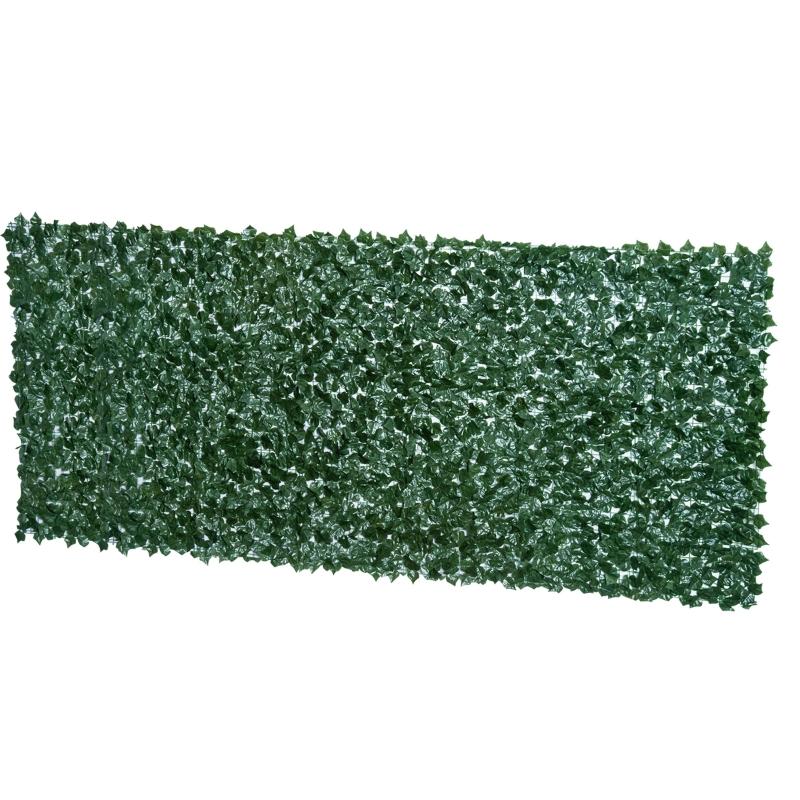 Kunsthaag wanddecoratie privacyhaag planten haag donkergroen