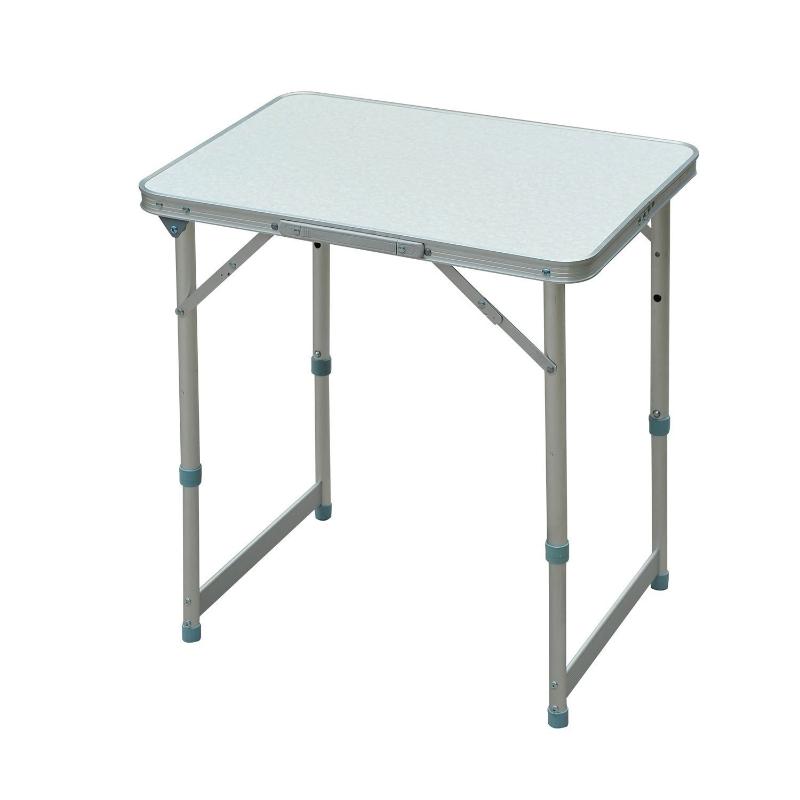 Aluminium kampeertafel klaptafel picknick eettafel in hoogte verstelbare tuintafel wit