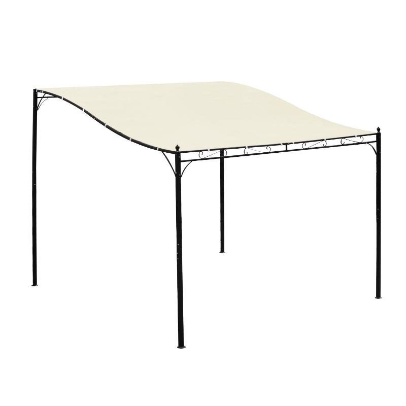 Pergola partytent paviljoen overkapping tent metaal crème 297x297 cm