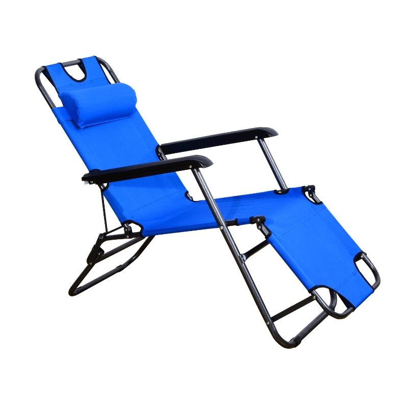 Ligbank ligbed strandstoel ligbank voor buiten inklapbaar met kussen strand