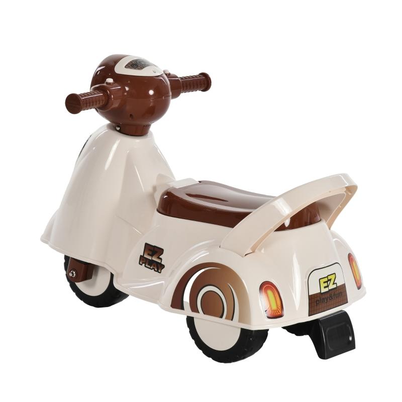 HOMCOM-loopauto voor kinderen, terreinwagen met muziek wit