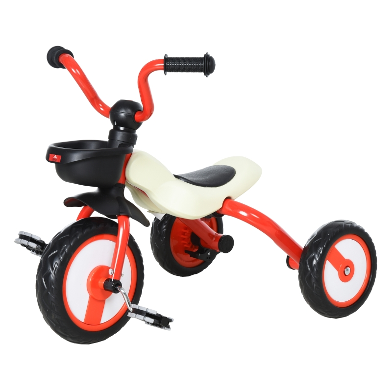 HOMCOM kinderdriewieler driewieler kinderfiets kindervoertuig fiets inklapbaar baby rood