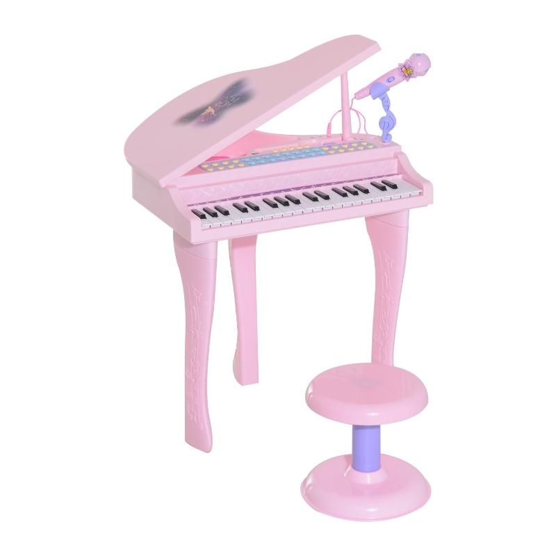 Kinderpiano piano keyboard muziekinstrument MP3 USB 37 toetsen met kruk