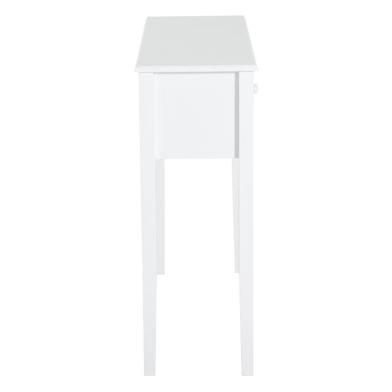 HOMCOM consoletafel bijzettafel decoratieve tafel consoletafel met lade MDF wit