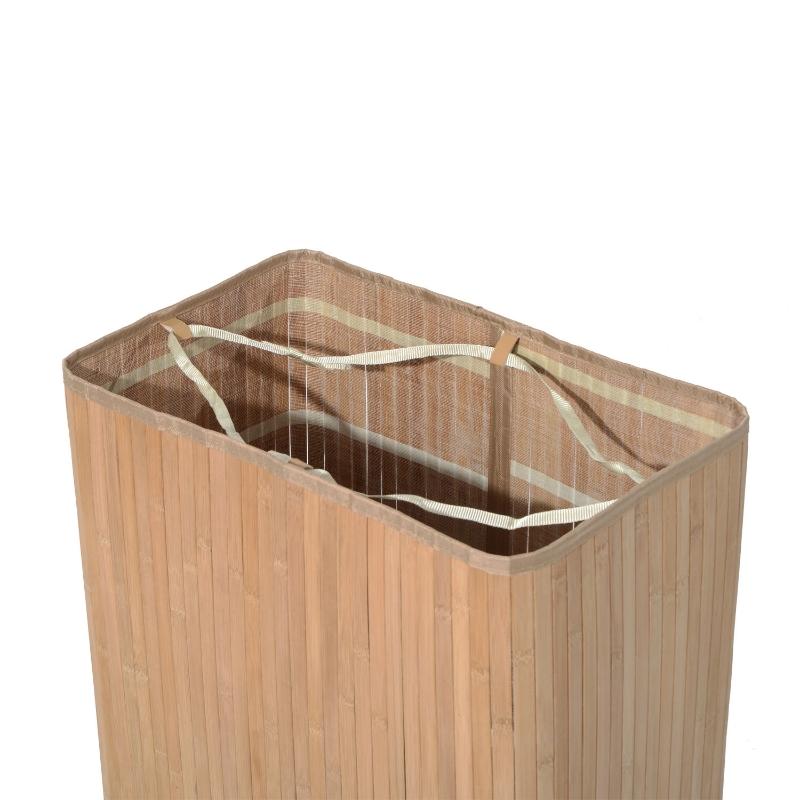 100 l wasmand wasbox waskorf wassorteerder 2 x vak bamboe