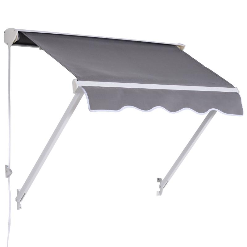 Luifel zonwering balkonzonwering knikarmtrekker aluminium 120 x 70 cm 2 kleuren