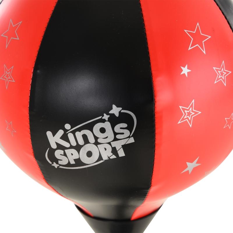 HOMCOM boksbalset boksset voor kinderen, in hoogte verstelbare boksstandaard