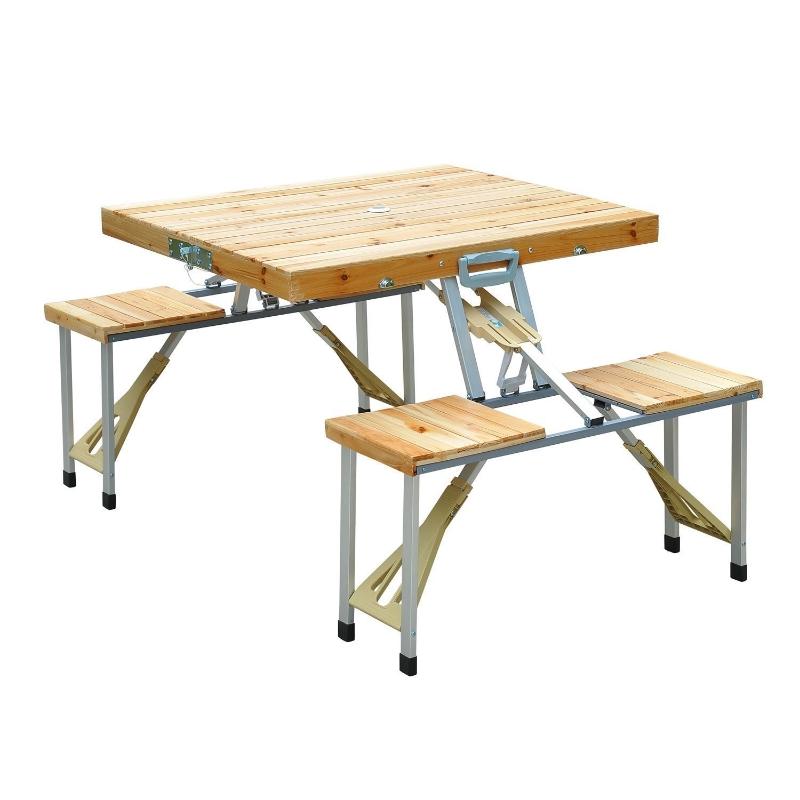 Eettafels hout 4-persoons kampeertafel inklapbaar picknick koffer zitgroep tafel
