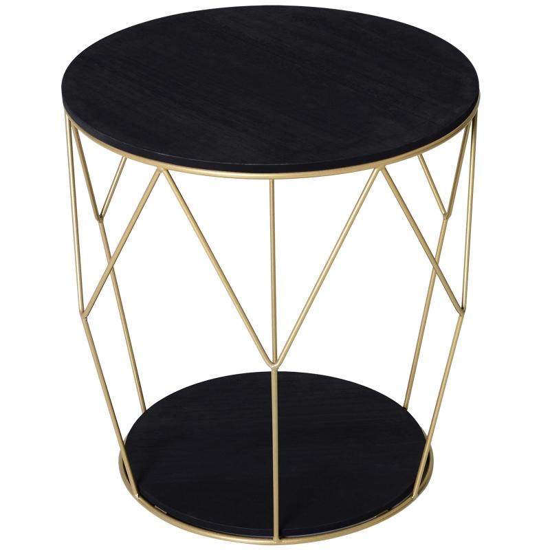 HOMCOM koffietafel met opbergruimte salontafel bijzettafel nachttafel metaal MDF