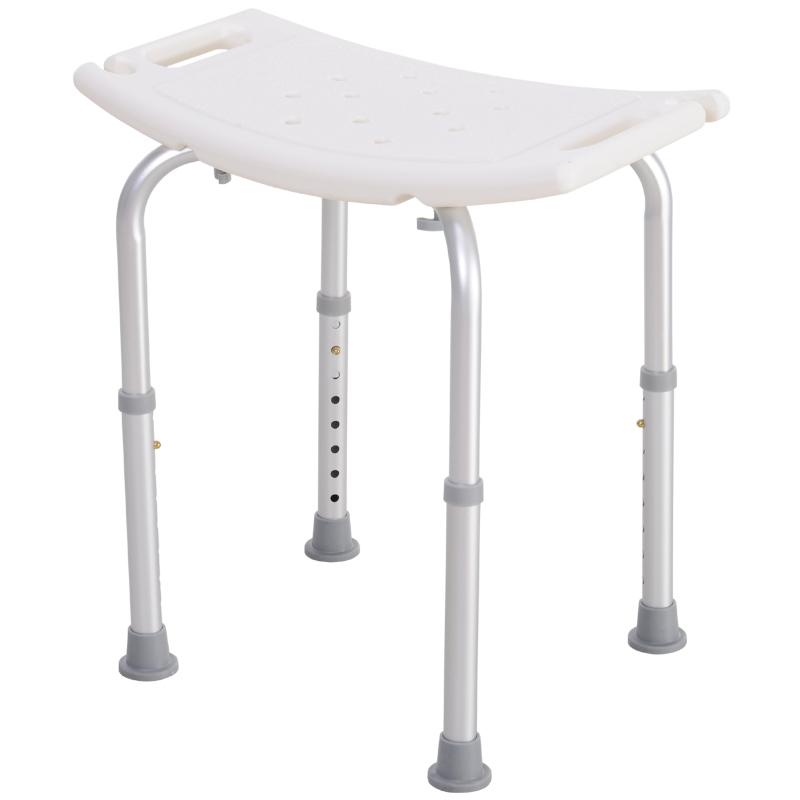 Douchekruk douchestoel badkruk badstoel rechthoekig 8 standen in hoogte verstelbaar