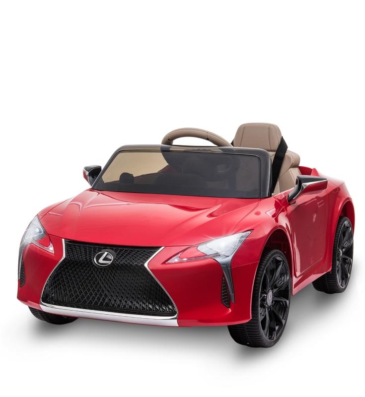 HOMCOM kinderauto van Lexus kindervoertuig elektrische auto met mp3-muziek rood