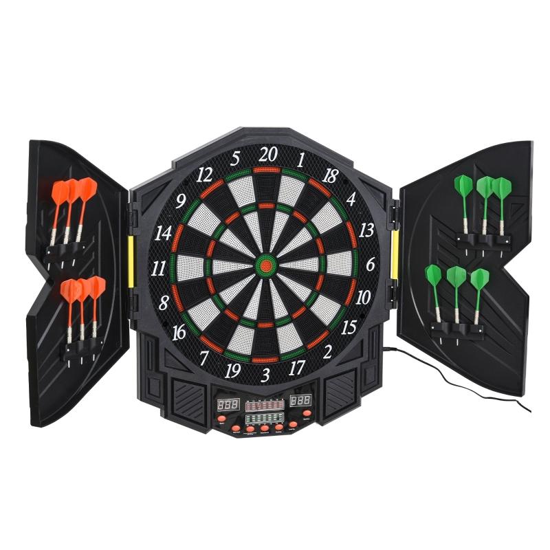Elektronisch dartbord dartbord met deur incl. 4 LED 216 spellen 12 pijlen
