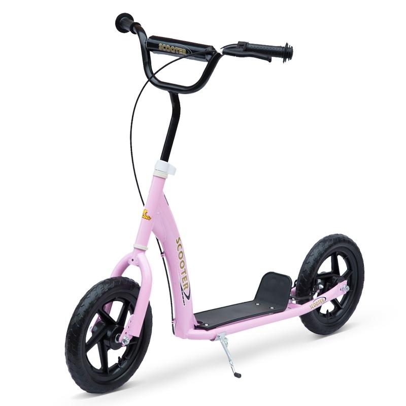 Step stadsstep stadsscooter 12 inch kinderstep kinderscooter blauw roze verstelbaar