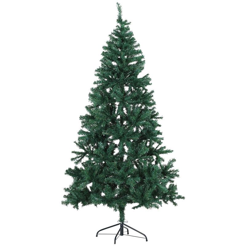 HOMCOM Kerstboom dennenboom 1.000 takken PVC groen