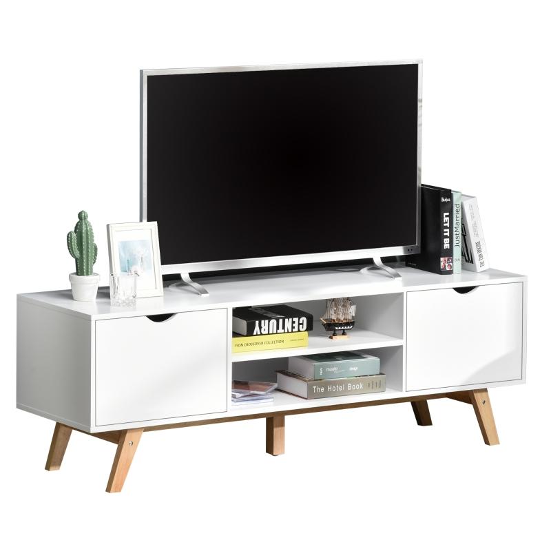 HOMCOM tv-meubel tv-kast kastelement met lades MDF wit