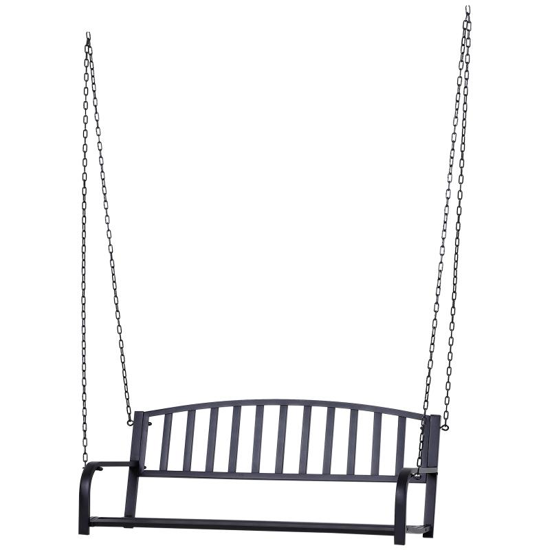 Hangbank hangende schommel tuinschommel Hollywoodschommel met kettingen metaal