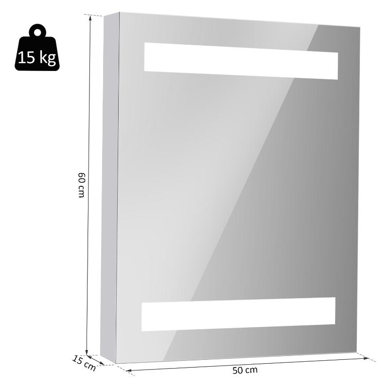 LED-spiegelkast badkamerspiegel lichtspiegel badkamerkast badkamerspiegel wand 15 W