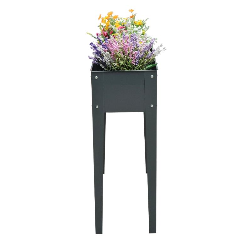 Verhoogd bloembed plantenbak kruidenbed 3 afvoergaten bloembak met metalen poten