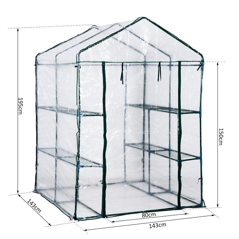 Foliekas tomatenhuis kas kweekkas koude kas staal 143x143x195cm