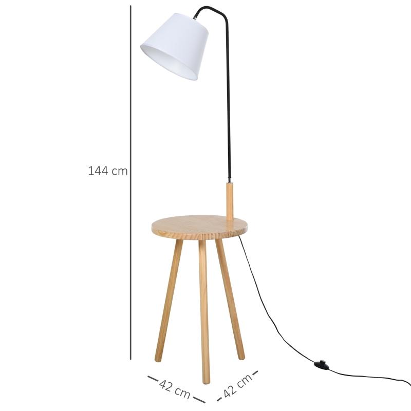 Vloerlamp voor woonkamer staande lamp booglamp met houten tafel staal wit