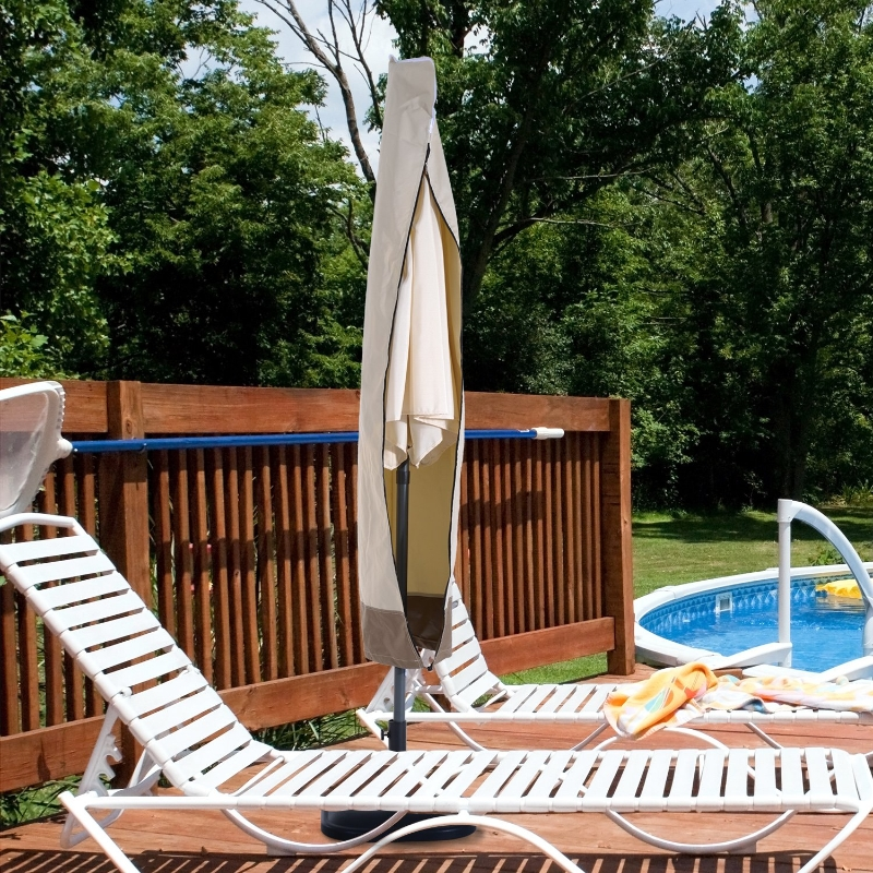 beschermhoes hoes voor parasol Ø300 cm tuinparasol met ritssluiting