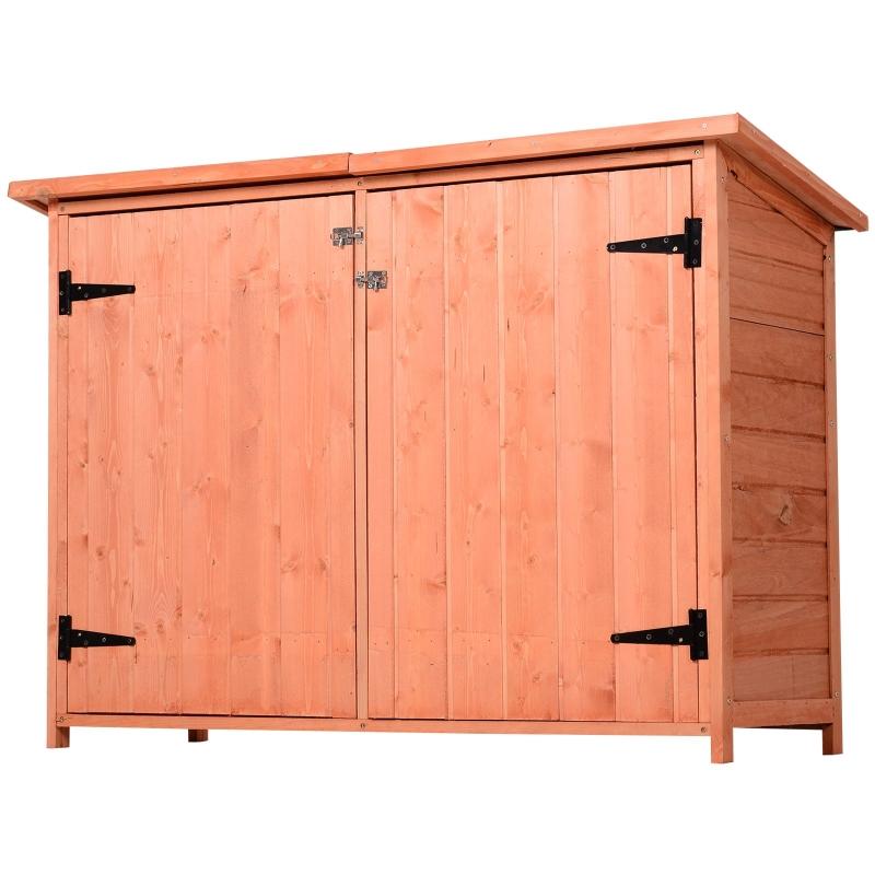 Tuinhuis 3 vakken gereedschapsschuur gereedschapshuis asfaltdak massief hout