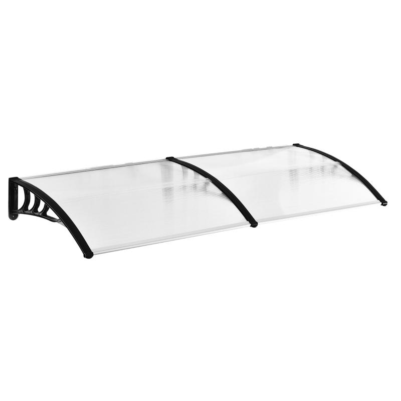 Schuurluifel voor voordeur 80 x 195 x 23 cm 5 mm polycarbonaat aluminium transparant