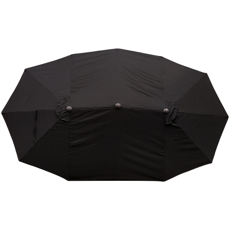 parasol met zwengel tuinparasol dubbele marktparasol 460 x 270 cm zwart