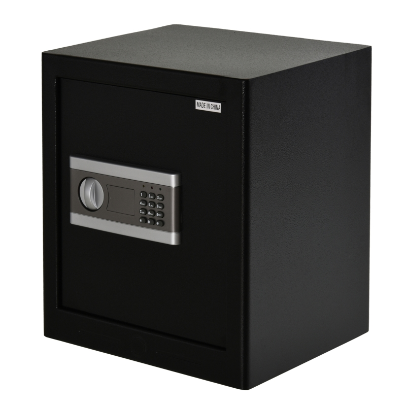 Safe meubelkluis met elektronisch slot staal zwart 38 x 31 x 42,7 cm