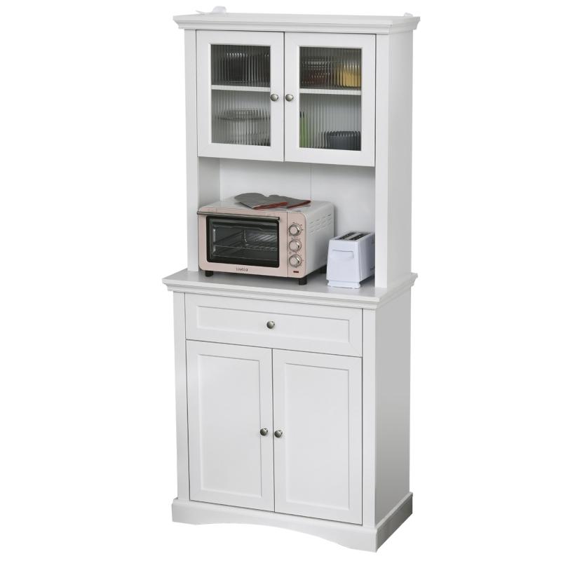 Keukenkast met lade hoge kast 2 verstelbare aflegvlakken MDF