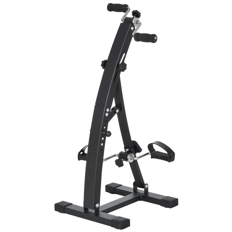 Hometrainer voor senioren bewegingstrainer pedaaltrainer armen en benen staal wit