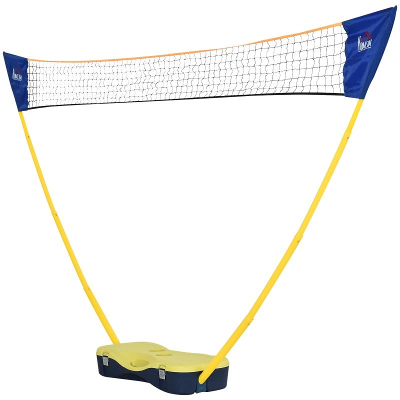 Badmintonnet met standaard Badmintonnet met 4 badmintonrackets, draagbaar