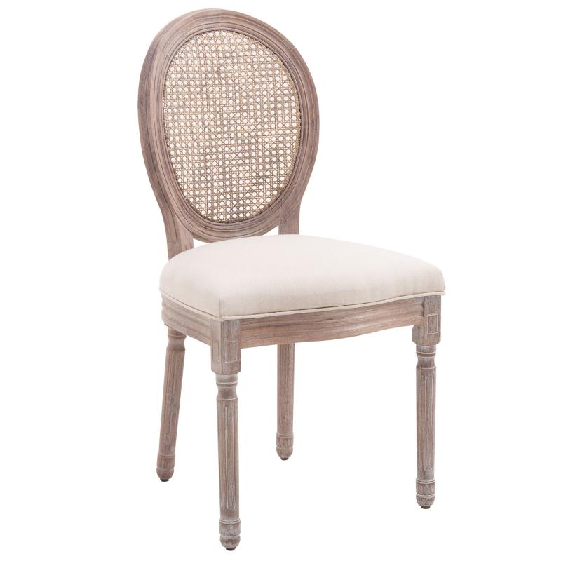 eetkamerstoel keukenstoel gepolsterde leunstoel rotan stoel vintage retro