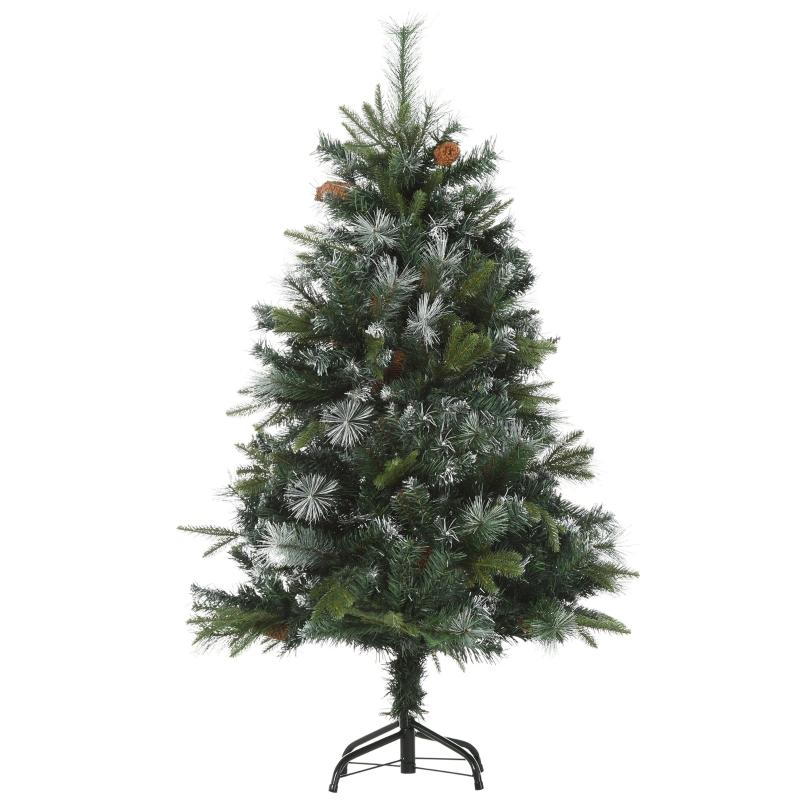 kunstkerstboom 1,2 m kerstboom dennenboom 440 takken metalen voet PVC
