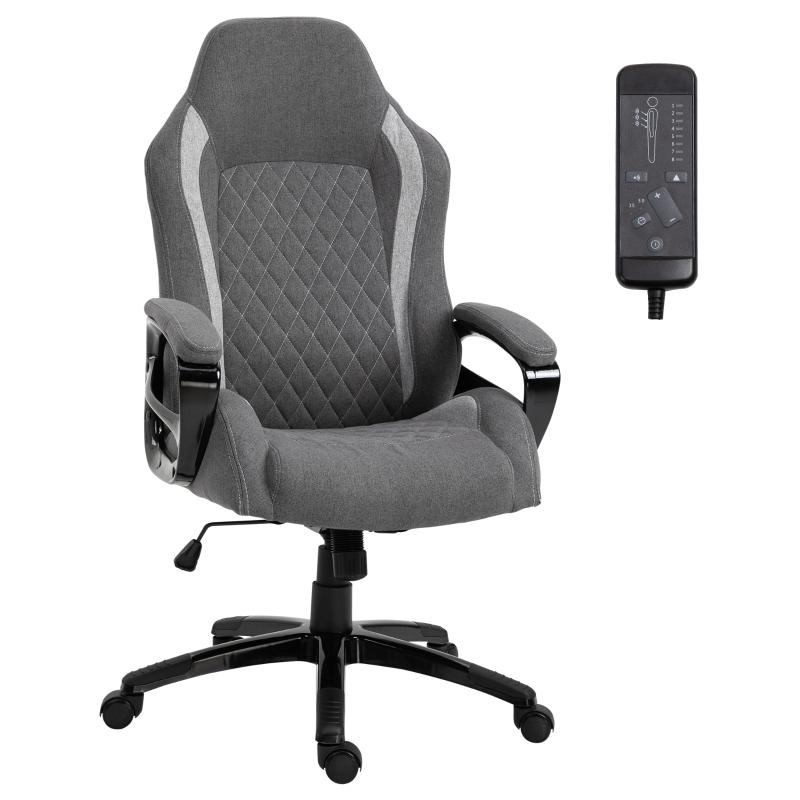 Kantoorstoel met massage draaistoel in hoogte verstelbaar directiestoel massagestoel grijs