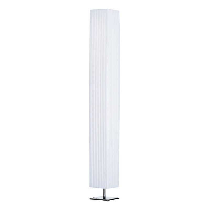 staande lamp stalicht stalamp vloerlamp E27 RVS 14x14x120 cm wit