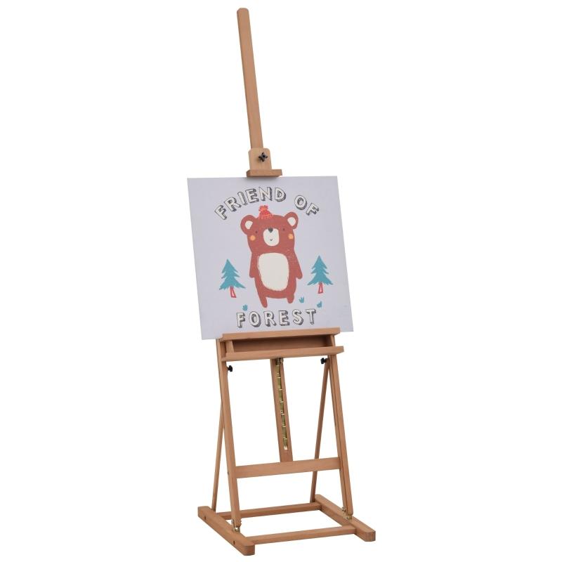 Schildersezel frame verstelbare hoek en hoogte schildersezel voor atelier met opbergvak