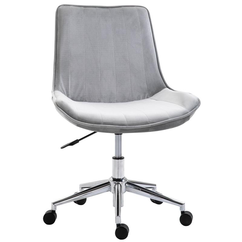 Bureaustoel in hoogte verstelbare draaistoel bureaustoel 360 ° draaibaar fluweel