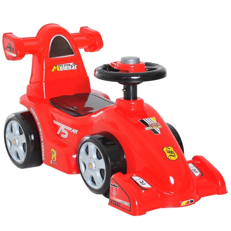 Loopauto voor kinderen formule-1 loopauto, babyauto met hoes rood
