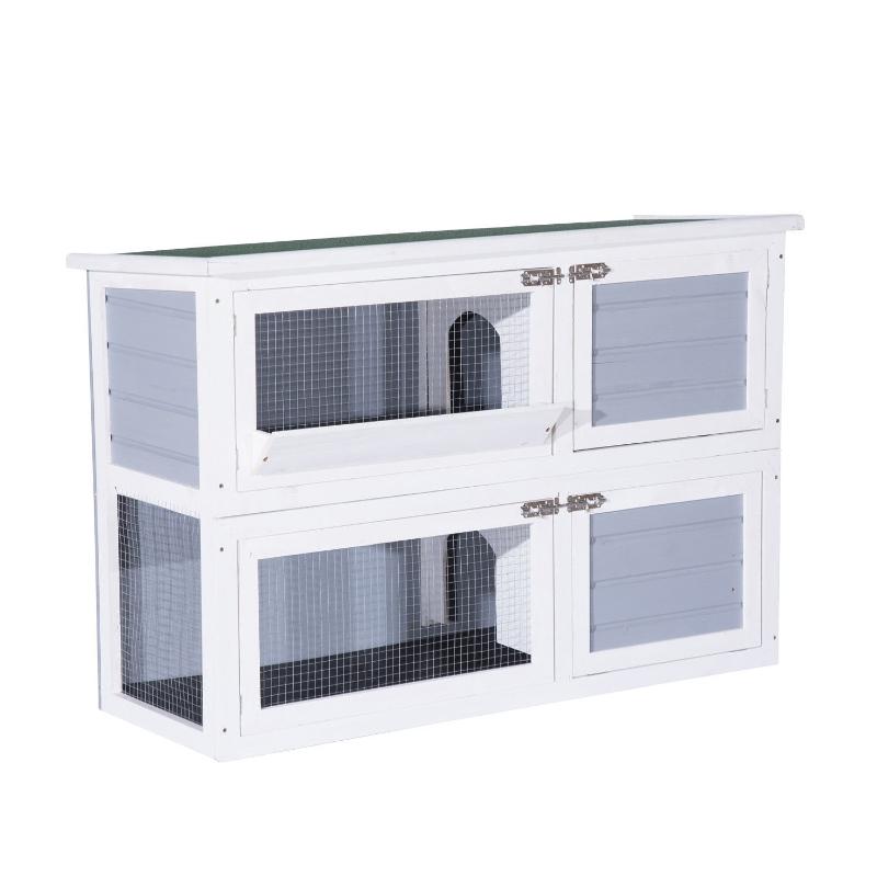 Konijnenhok konijnenkooi hok voor kleine huisdieren 2 niveaus