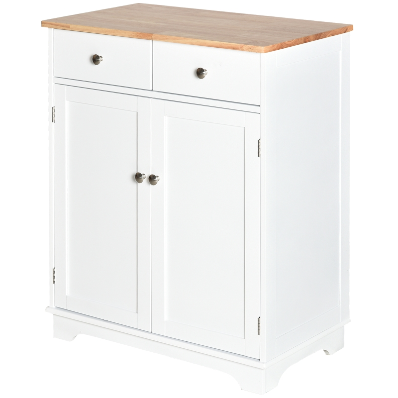 Keukenkast dressoir met 2 schuiflades dressoir opbergkast MDF wit