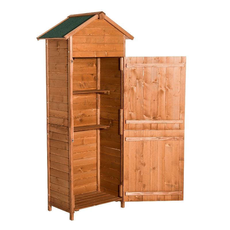 Houten gereedschapsschuur gereedschapsschuur tuinkast gereedschapskast tuinhuis 2 planken