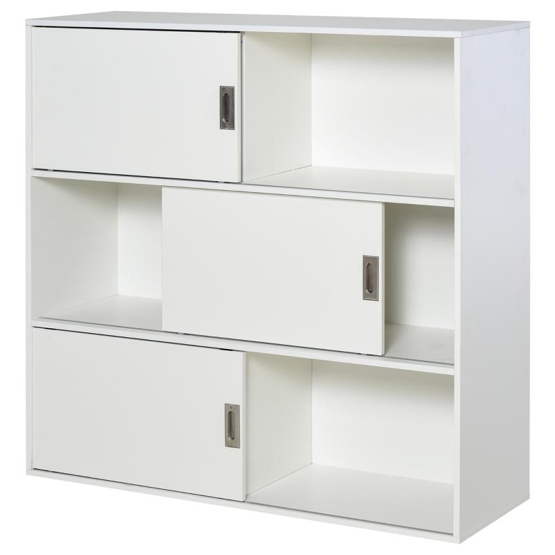 Boekenrek staande kast archiefkast multifunctionele kast wit 120 x 40 x 120 cm