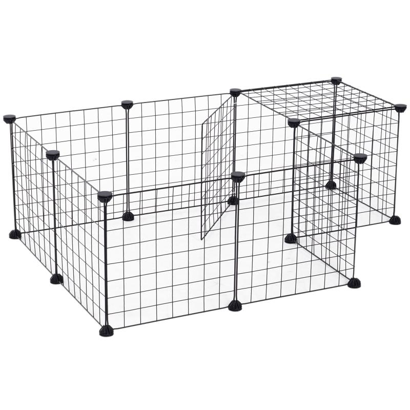 Ren, box, kooi voor kleine dieren, metalen rooster flexibel omvormbaar