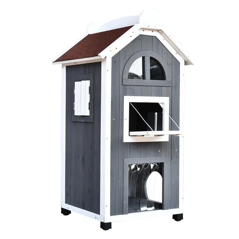 Kattenhuis voor kattenbed of kattentoilet, kattenkast, kattenbak, vurenhout
